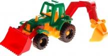 Трактор Нордпласт Ижора с грейдером и ковшом