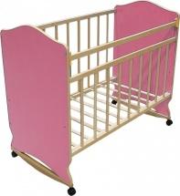 Кроватка ВДК Морозко колесо-качалка, розовый