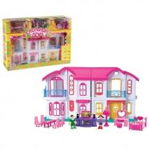 Коттедж для кукол, с мебелью, с куколками, с аксессуарами, световые и звуковые эффекты, Забияка