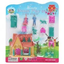 Дом для куклы, с фигурками