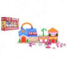 """Дом для кукол """"Загородный дом"""" 2 в 1, складной, в наборе: мебель, куколки, Забияка"""