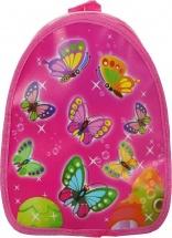 Рюкзак детский на молнии Бабочки, малиновый