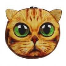 """Мягкий рюкзак """"Котик"""" зеленые глазки, 9×29×26 см, SLand"""