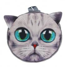 """Мягкий рюкзак """"Большеглазый котик"""", 9×29×26 см, SLand"""