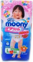 Трусики Moony для девочек L (9-14 кг) 44 шт