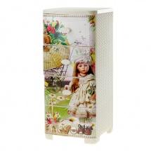 """Комод для игрушек """"Плетёнка"""", 4 ящика, (кремовый), Альтернатива"""