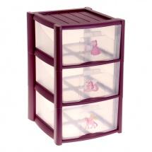 """Комод для игрушек """"Баклажан"""", 3 ящика, Пластишка"""