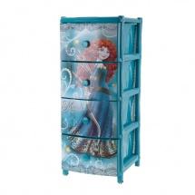 """Комод для игрушек """"Мерида"""", 4 ящика, Альтернатива"""