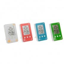 Термометр электронный, указатель влажности, часы, 10х6 см, МИКС