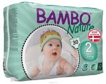 Подгузники Bambo Nature 2 (3-6 кг) 30 шт