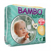 Подгузники Bambo Nature 3 (5-9 кг) 33 шт