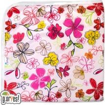 Пеленка GlorYes впитывающая 80х68 см, цветы