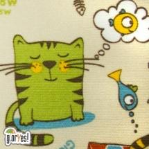 Пеленка GlorYes впитывающая 120х100 см, котята