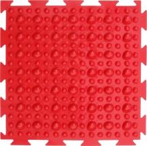 """Массажный коврик Орто """"Камешки. Первый шаг"""" мягкий 25x25 см, красный"""