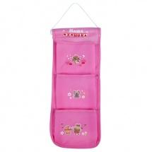 """Кармашки на стену """"Наша малышка"""" (3 отделения), розовый"""