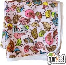 Пеленка GlorYes непромокаемая 78х70 см, птички