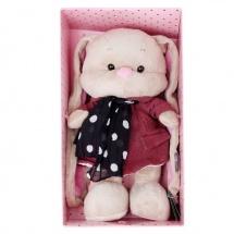 """Мягкая игрушка """"Зайка Лин в розовом пальто со стильным шарфом"""", 25 см, Jack and Lin"""