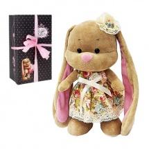 """Мягкая игрушка """"Зайка Лин в летнем платье, с цветочком на голове"""", 25 см, Jack and Lin"""