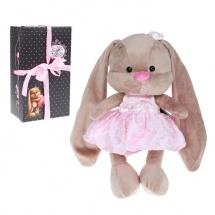 """Мягкая игрушка """"Зайка Лин в розовом платье"""", 25 см, Jack and Lin"""