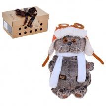 """Мягкая игрушка """"Басик в шлеме и шарфе"""", 22 см, Басик и Ко"""