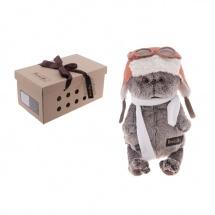 """Мягкая игрушка """"Басик в шлеме и шарфе"""", 25 см, Басик и Ко"""