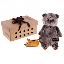 """Мягкая игрушка """"Басик и мышка"""", 22 см, Басик и Ко"""
