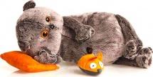 """Мягкая игрушка """"Басик с подушкой и мышкой"""", 26 см, Басик и Ко"""