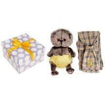 """Мягкая игрушка """"Басик BABY"""" в трусиках на липучках с игрушечным слингом, 19 см, Басик и Ко"""