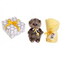"Мягкая игрушка ""Басик BABY"" в комплекте с детским пледом, 19 см, Басик и Ко"
