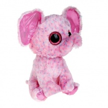 """Мягкая игрушка """"Слоненок Ellie"""", цвет розовый, 25 см, TY"""