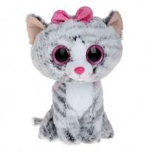 "Мягкая игрушка ""Кошка Kiki"", серый, 25 см, TY"