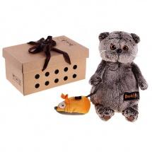 """Мягкая игрушка """"Басик и мышка"""", 19 см, Басик и Ко"""