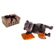"""Мягкая игрушка """" Басик с подушкой и мышкой"""", 22 см, Басик и Ко"""