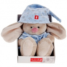 """Мягкая игрушка """"Зайка Ми"""" в голубой пижаме, 18 см, Зайка МИ"""