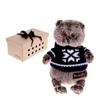 """Мягкая игрушка """"Басик в свитере"""", 19 см, Басик и Ко"""
