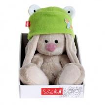 """Мягкая игрушка """"Зайка Ми"""" в шапке-лягушка, малыш, 15 см, Зайка Ми"""