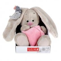 """Мягкая игрушка """"Зайка Ми"""" с подушкой и месяцем, 15 см, Зайка Ми"""