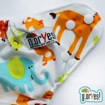 Многоразовый подгузник GlorYes Optima (3-18 кг) жираф