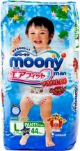 Трусики Moony для мальчиков L (9-14 кг) 44 шт