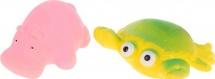 Набор резиновых игрушек Забияка Краб и Бегемот