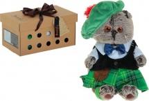 """Мягкая игрушка """"Басик в шотландском костюме """", 25 см, Басик и Ко"""