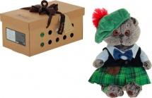 """Мягкая игрушка """"Басик в шотландском костюме"""", 30 см, Басик и Ко"""