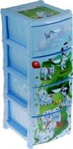 Комод Idea Disney. 101 долматинец 4 ящика, бирюзовый