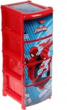 Комод Idea Человек-паук 4 секции, красный