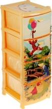Комод для игрушек Idea Disney. Винни 4 секции, банановый