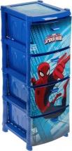 Комод для игрушек Idea Человек-паук 4 ящика, синий