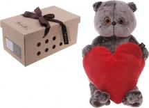 """Мягкая игрушка """"Басик с сердечком"""", 25 см, Басик и Ко"""