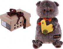 """Мягкая игрушка """"Басик с уточкой"""", 30 см, Басик и Ко"""