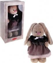 """Мягкая игрушка """"Зайка Ми"""" в тигровой шубке и сером платье, 32 см, Зайка МИ"""