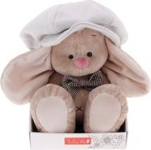 """Мягкая игрушка """"Зайка Ми"""" в кепке и галстуке-бабочке, 23 см, Зайка Ми"""